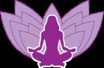 jógázó hölgy lila színű